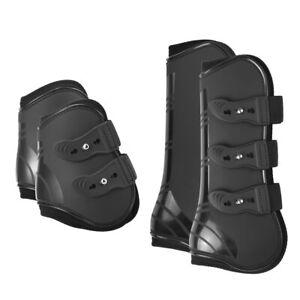 4-PCs-Front-Hinterbeine-Bein-Stiefel-verstellbar-Pferd-Bein-Stiefel-Equine-Vorne-Hinterbeine-Bein