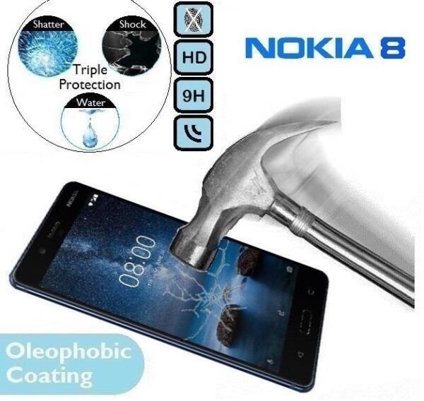 100% Genuine Tempered Verre 9 H Protecteur D'écran (ta-1004/1012/1052) Pour Nokia 8-1052) For Nokia 8 Pourtant Pas Vulgaire