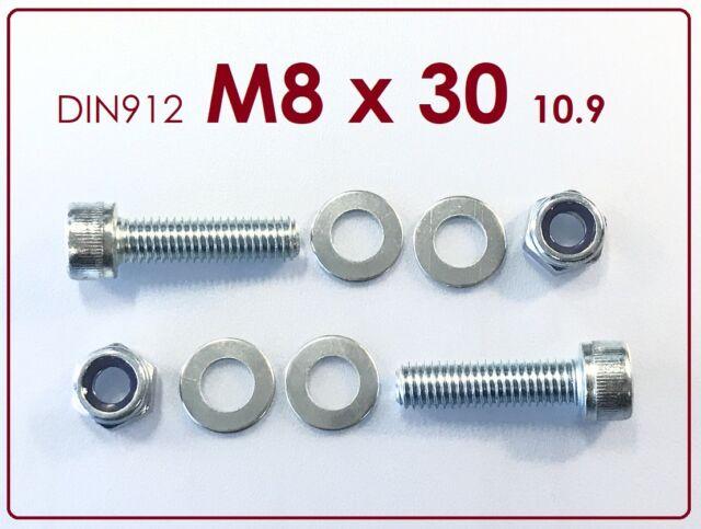 5 Stück Schraube ISO 4762 M8x60 10.9 verzinkt Innensechskant