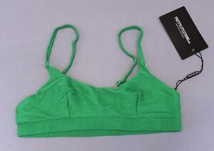 Pretty Little Thing Womens High Waist High Leg Bikini Bottom SV3 Green US:4 UK:8