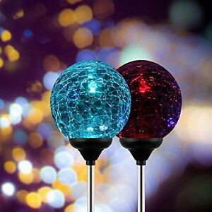 Image Is Loading Crystal Gl Globe Led Solar Light Color Changing