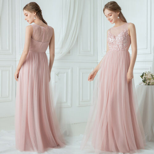 Ever-Pretty Applique Long Formal Prom Dress A-Line Cocktail Wedding Ball Gown US