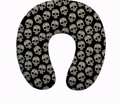Travel Pillow Skull Pattern Memory Foam Neck U shape Headrest Soft Cushion Gifts | eBay