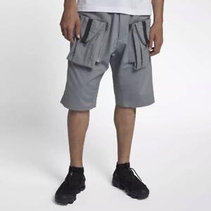 63eb620baa Nike NikeLab ACG Deploy Cool Grey Cargo Shorts New Mens Large 923949 ...
