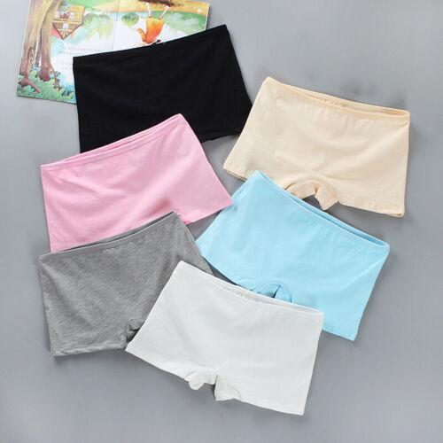 Kids Girls Teens Boxer Shorts Panties Briefs Knickers Cotton Comfy Underwear