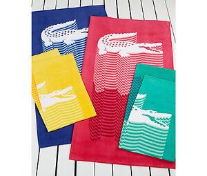 LACOSTE-BEACH-TOWEL-CROCO-JUMP-POOL-COTTON-MULTI-COLOR-BRIGHT-34-034-x-70-034