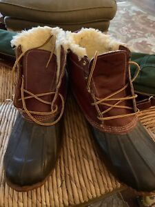 4ea8cba0725 VTG Rare BROOKS BROTHERS Gum Shoes Duck Boots Hunting Rain Sherpa ...
