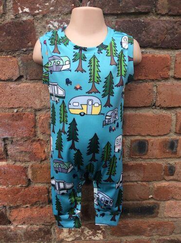 Caravan Campervan Camping Baby Boy Girl Romper Jumpsuit Playsuit 3m 6m 12m 18m