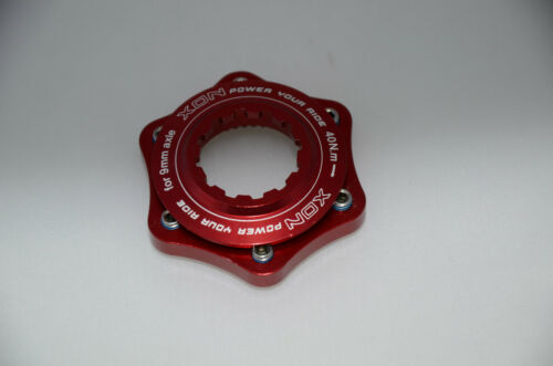 NEW XON  Disc Rotor Center Lock Adapter--Red U.Z BIKE