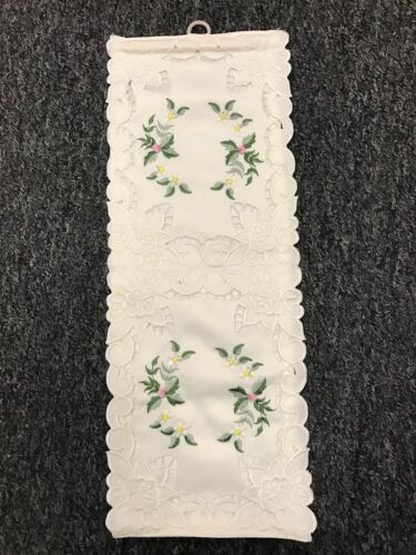 Double 12 Pcs Handmade Rosebud Embroidered Embroidery Toilet Tissue Roll Holder
