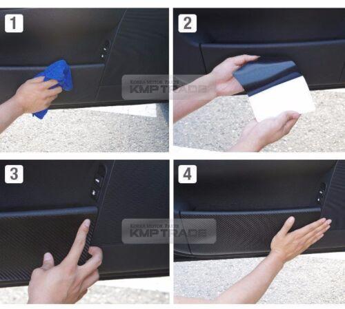 Carbon Door Decal Sticker Cover Kick Protector for CHEVROLET 2010-2016 Orlando