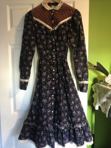 Vintage 70's Gunne Sax Midi Prairie Dress