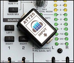 ATT25-STEREO-AUDIO-ATTENUATOR-25dB-LINE-TO-MIC-HIGH-QUALITY-DJ-STREAMING