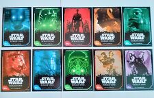Star Wars ROGUE ONE STICKER CARDS 203-212 COMPLETE SET 10 TOPPS Force Attax Jyn