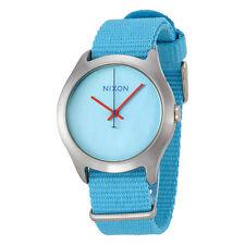 Nixon Mod Bright Blue Dial Bright Blue Nylon Ladies Watch A348606