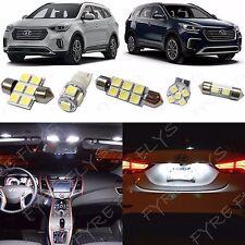 9x White LED lights interior package kit for 2017 & Up Hyundai Santa Fe YF2W