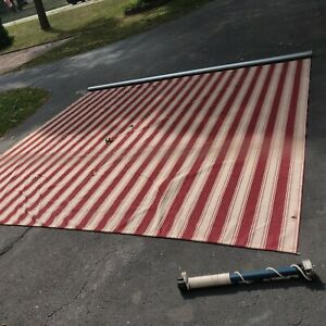 Sunsetter Awning Canopy Patio Shade Shelter used Fabric ...