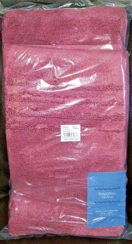 Simply Vera Wang Plush Bath Rug Sand Skid Resistant Cotton Mat 22x60