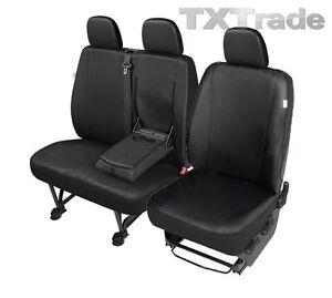 hier in SCHWARZ. Sitzbezüge 1+2 für Ford Transit Custom ab 2013 Kunstleder