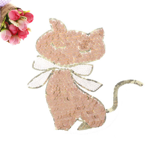 2cats Sequins Sew On Patches for Dress Patch Applique Bag Coat Sweater Crafts PT