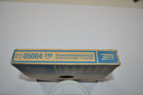 "WR.13b.D.8 New 3M 240x THREE-M-ITE ELEK-TRO-CUT Cloth Utility Roll  1/""x50yds"