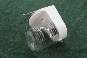 Details About Mobile Home Outside Plastic Light Fixture Porch Light W Mason Jar Globe White