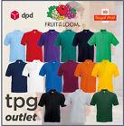 Fruit Of The Loom Mens Polo Shirt Plain Polo T Shirt Polo Top S - 5XL Lot