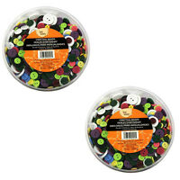 1250 Bulk Lot Round Buttons Assorted Colors 3/8-7/8 Sewing Crafts Scrapbooking