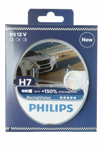Philips H7 12972RVS2 Racingvision + 150% Halógeno Luces Delanteras Caja Duo (2