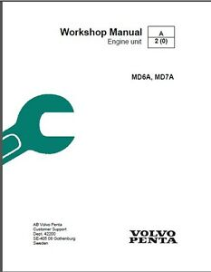 volvo penta md6a md7a marine diesel motor service manual on a cd rh ebay com Volvo Penta SX Water Pump Volvo Penta Fuel Pump Problems