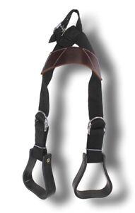 D-A-Brand-Pony-BLACK-Nylon-Adjustable-Buddy-Stirrups-Horse-Tack