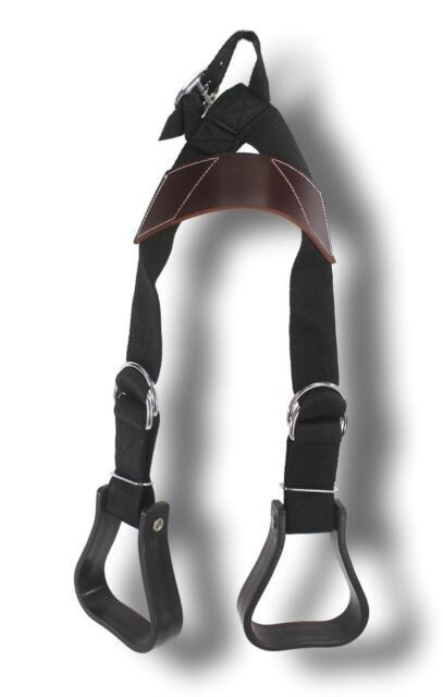 D.A. Brand Pony BLACK Nylon Adjustable Buddy Stirrups Horse Tack