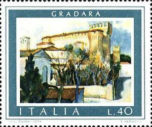 ITALIA-ITALY-1974-GRADARA-Castello-Castle-Turismo-Stamp-MNH