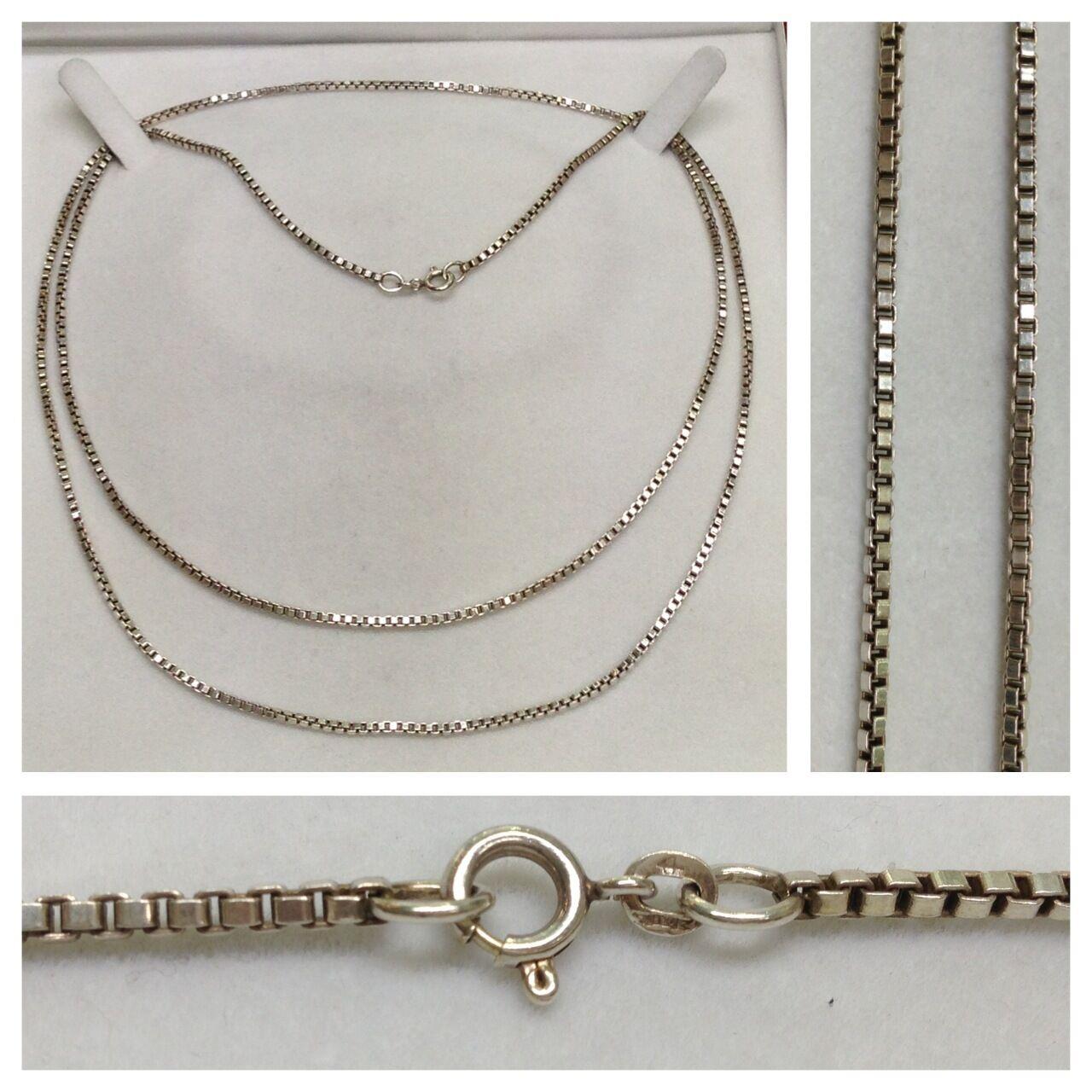 Lange  venezia Kette Veneziakette 835er silver Collier silverkette silvercollier