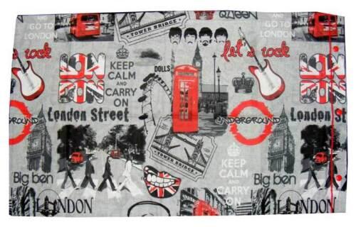 COPPIA FEDERE FEDERA CUSCINO 100/% COTONE LONDRA LONDON QUADRIFOGLIO