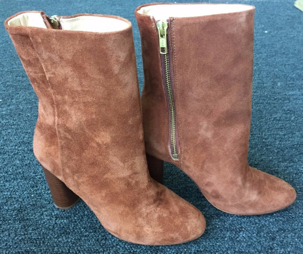 NWT H&M Premium Quality Real suede brown heel boot - Size 6.5