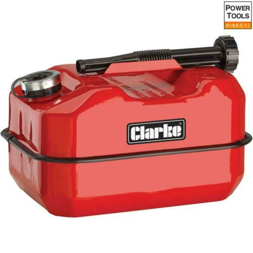 Clarke LB10R 10 Litre Large Base Metal Fuel Can Red