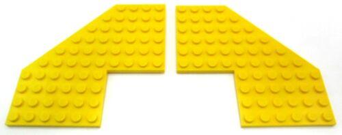 LEGO 2x Eck-Winkelplatte 10x10 Noppen in Gelb . 2401