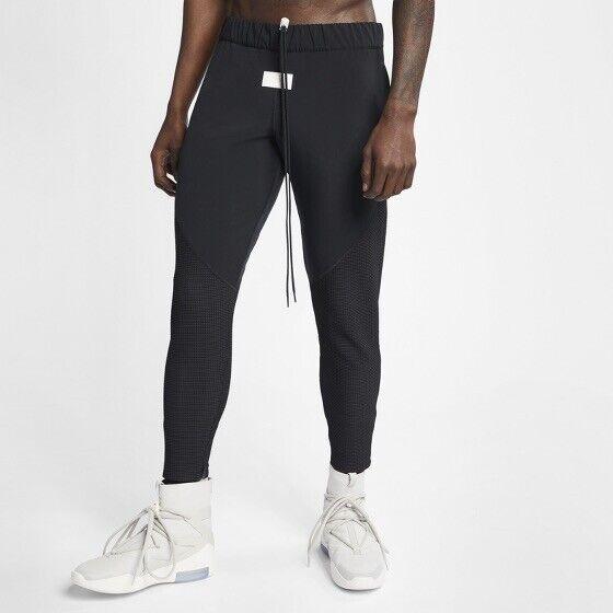 fbe4822e Nike X Fear of God Woven Running Pants Black / Sail Men's Large Ar0640 010  for sale online | eBay