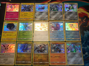 15-Pokemon-Hidden-Fates-Shiny-Regular-Holos-PACK-FRESH-MINT-Eevee-SV41-SV94