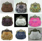 Victorian Beaded Sequined Rose Wedding Bag Purse Clutch Evening Handbag Lots