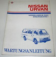 Werkstatthandbuch Ergänzung Nissan Urvan E24 / E 24 Stand April 1989!