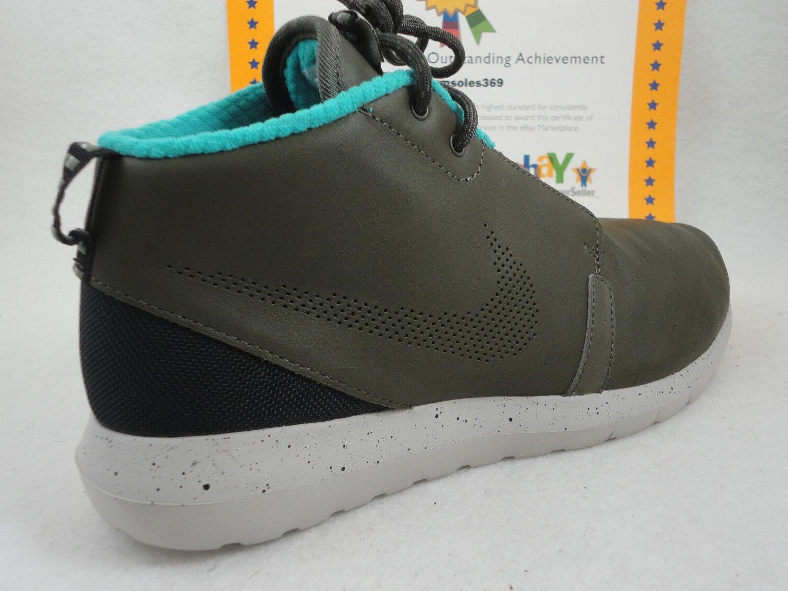 Nike Rosherun NM Snearkerboot Premium, Cargo Khaki   Hyper Jade, Size 8