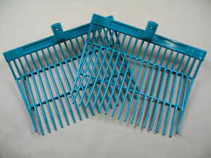 2-Stueck-Entmistungsgabel-Bollengabel-Ersatz-Kunststoffgabel-gruen