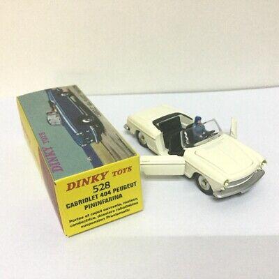 1:43 Dinky toys 528 PEUGEOT 404 Cabriolet Pininfarina Atlas Deicast