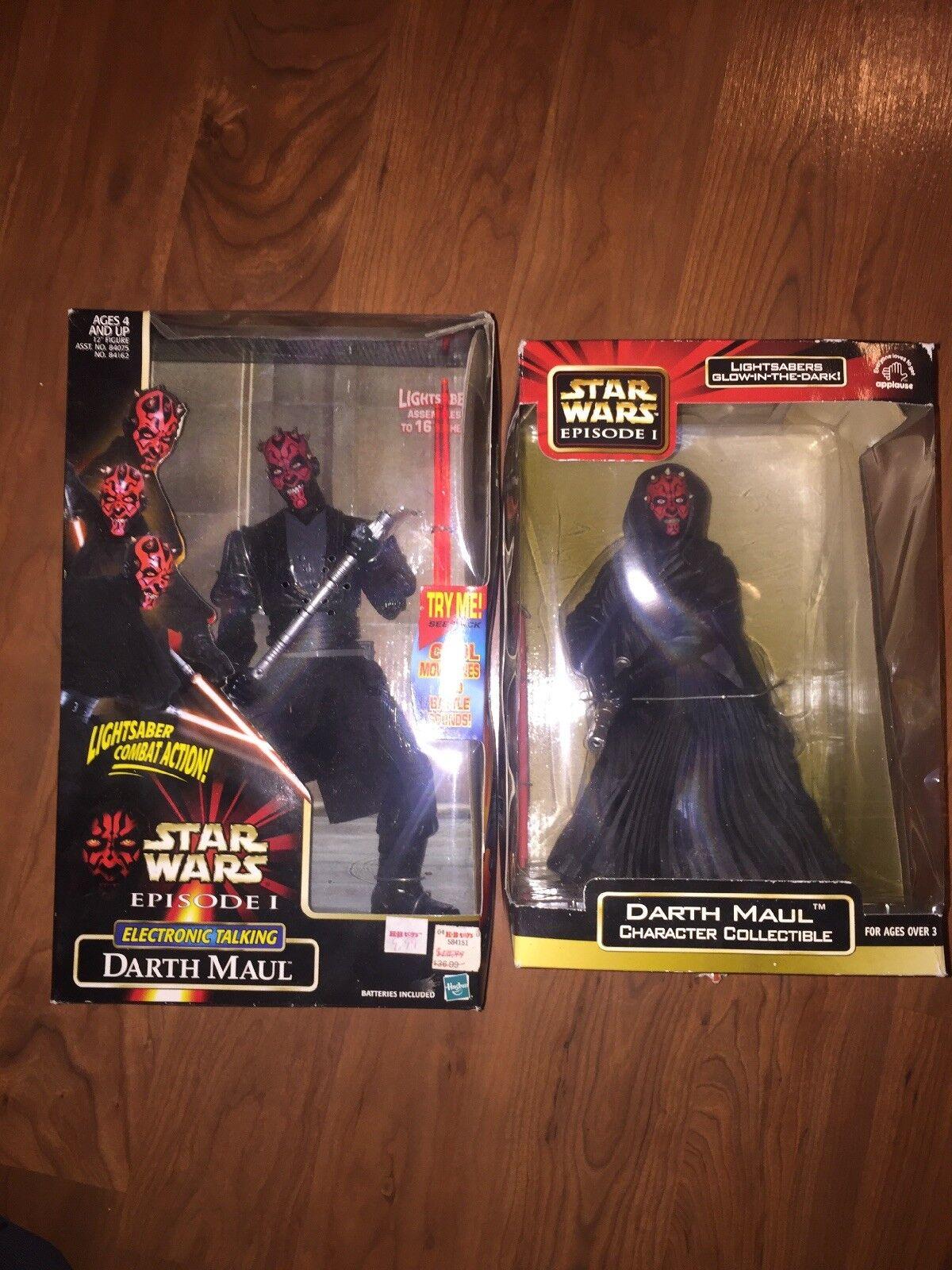 Star Wars Wars Wars Episode 1 Darth Maul Electronic Talkikg Glow In The Dark Lightsabers 11509f
