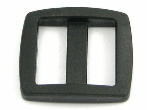10 corredera regulator hebilla para arrastrando plástico 25mm
