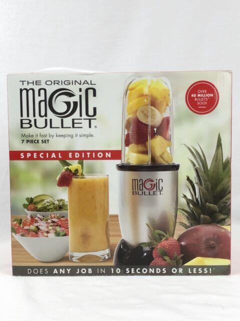 NEW The Original Magic Bullet 7 Piece Set Blender /& Mixer Silver Special Edition