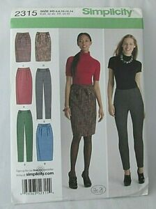 14-16-18-20-22 Simplicity Sewing Pattern 8957 Trousers R5