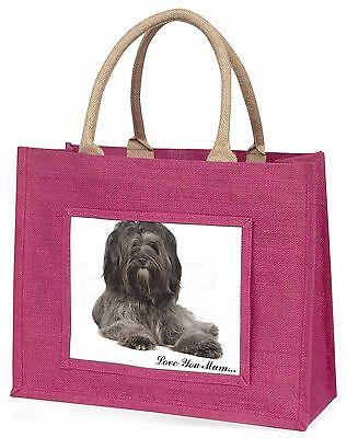 Tibet-Terrier 'Liebe, die Sie Mama' Große Rosa Einkaufstasche Weihnachten P,